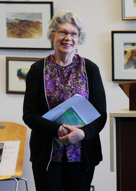 Mary Ann Moore at Salt Spring Library
