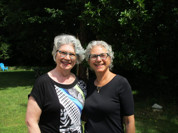 Mary Ann Moore and Ellen Bass at Annie's Acre, Nanoose Bay, B.C. June 5, 2016 Photo: Susan Stenson.